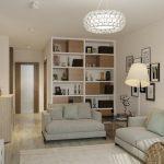 طراحی داخلی یک آپارتمان 50 متری