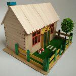 ساخت مدل های مختلف کاردستی و ماکت خانه با چوب بستنی