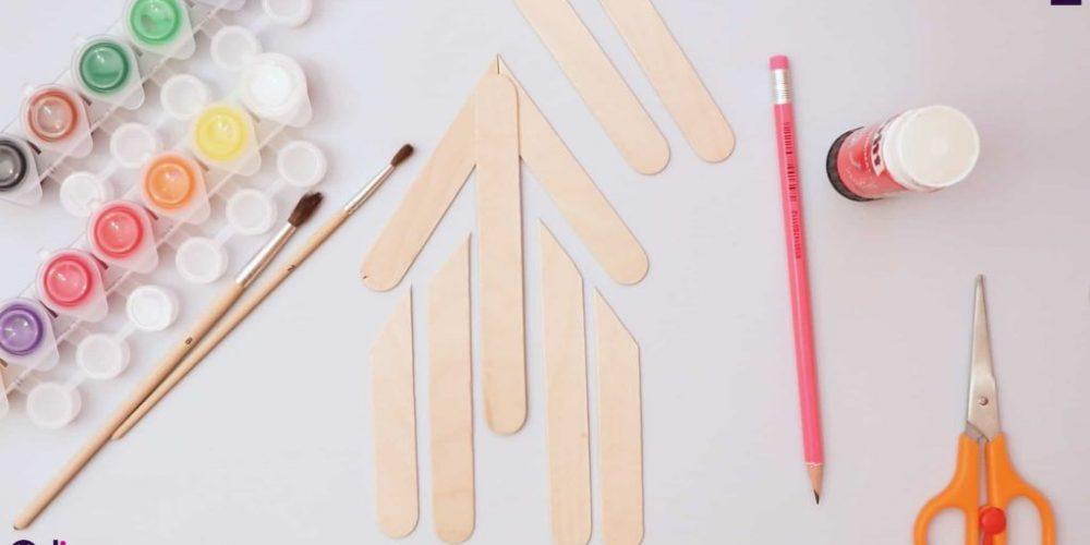 Ice cream stick house model 19