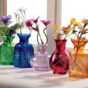 گلدان شیشه ای رنگی