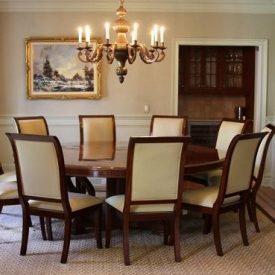 میز ناهارخوری گرد 8 نفره