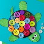 با دکمه های رنگارنگ برای بچه ها کاردستی بسازید