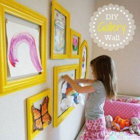 تزئین دیوار اتاق با قاب عکس