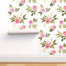 کاغذ دیواری طرح گل