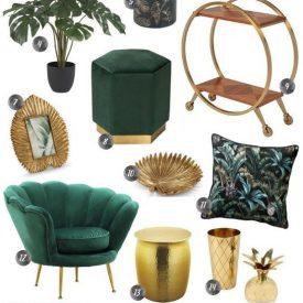 دکوراسیون سبز و طلایی
