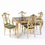 میز ناهار خوری طلایی
