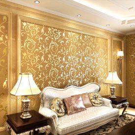 کاغذ دیواری طلایی