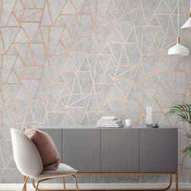 کاغذ دیواری طوسی