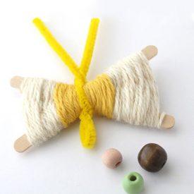 کاردستی با چوب بستنی و کاموا