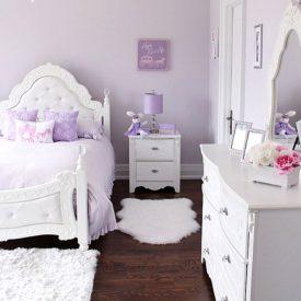 رنگ اتاق خواب یاسی