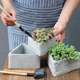 ساخت گلدان سیمانی