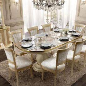 میز ناهارخوری بیضی