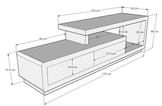 رنگ کناف تلویزیون ابعاد و اندازه میز تلویزیون های دیواری شیک و مدرن - چیدوپلاس