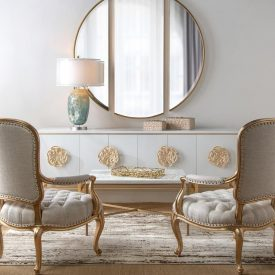 دکوراسیون منزل سفید طلایی