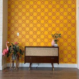 کاغذ دیواری زرد